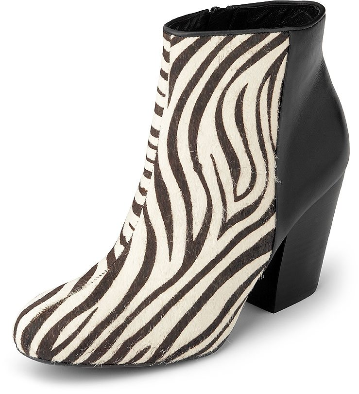 Belmondo Zebra-Stiefelette in schwarz