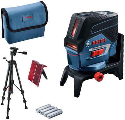 Bosch Professional Punkt- und Linienlaser »GCL 2-50 C Professional Baustativ-Set«, (Set), Ø Arbeitsbereich: 20 m