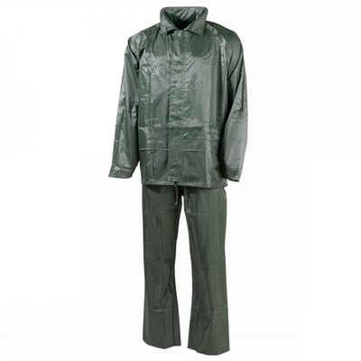 MFH Regenmantel »Regenanzug, Polyester, oliv - L« mit Kapuze