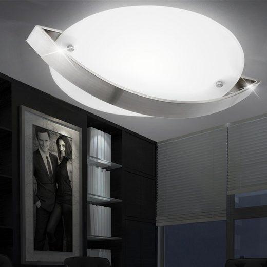 WOFI Deckenstrahler, LED Decken Lampe Wohn Ess Zimmer Beleuchtung Glas Flur Leuchte satiniert WOFI 9547.01.64.0300