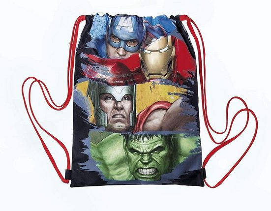 The AVENGERS Sporttasche »Marvel Avengers - Sportbeutel, 40x35 cm« (Jungen), Geringes-Gewicht