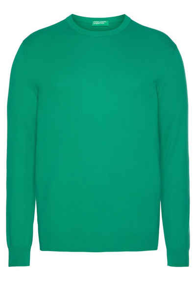 United Colors of Benetton Rundhalspullover Unifarben