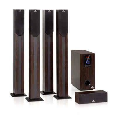 Auna Areal Elegance 5.1-Kanal-Surround-System 190W RMS BT USB SD AUX Fernbedienung 5.1 Lautsprecher System