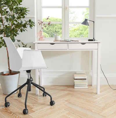 my home Schreibtisch »Gava«, aus massiven Kiefernholz, mit Griffmulden und praktische Stauraummöglichkeiten, in unterschiedlichen Farbvarianten, Breite 100 cm