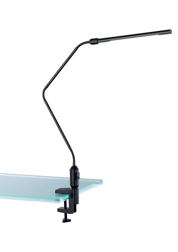 LED-Klemm-Tischleuchte, Trio in silberfarben
