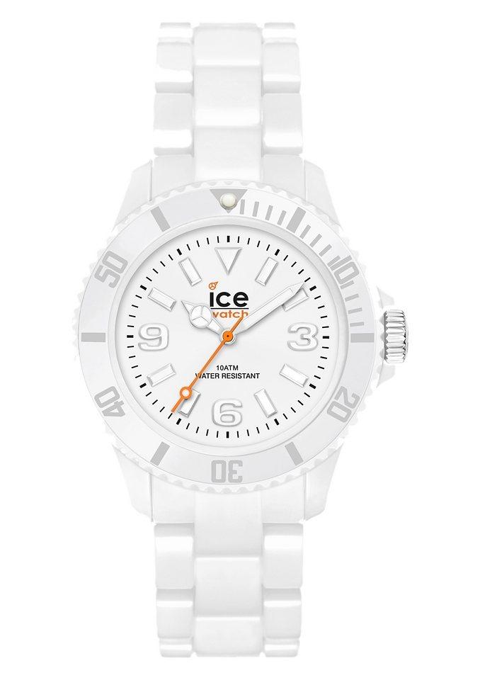 ice-watch Quarzuhr »ICE-SOLID, White Small, SD.WE.S.P.12« in weiß