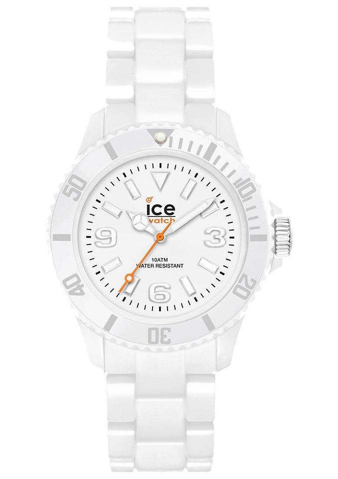 ice-watch Quarzuhr »ICE-SOLID White Unisex, SD.WE.U.P.12« in weiß