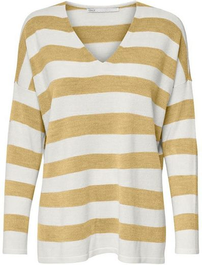 Only V-Ausschnitt-Pullover »ONLAMALIA« Oversize Look