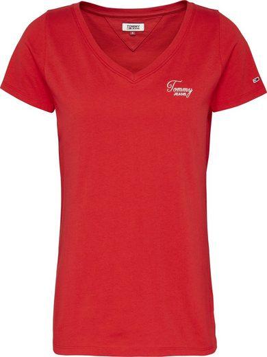 Tommy Jeans V-Shirt »TJW CHEST SIGN OFF V-NECK TEE« mit gesticktem Tommy Jeans Signature Logo-Schriftzug