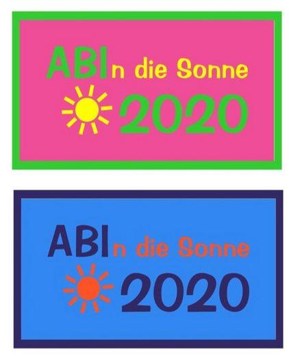 LIVING DREAMS Strandtuch »ABI 2020« (1-St), ABI 2020 ! Schriftzug mit Sonne