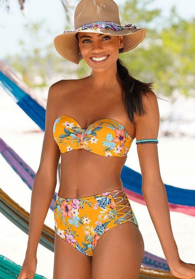 Bademode - Bench. Bügel Bandeau Bikini Top »Maui«, in floralem Design ›  - Onlineshop OTTO