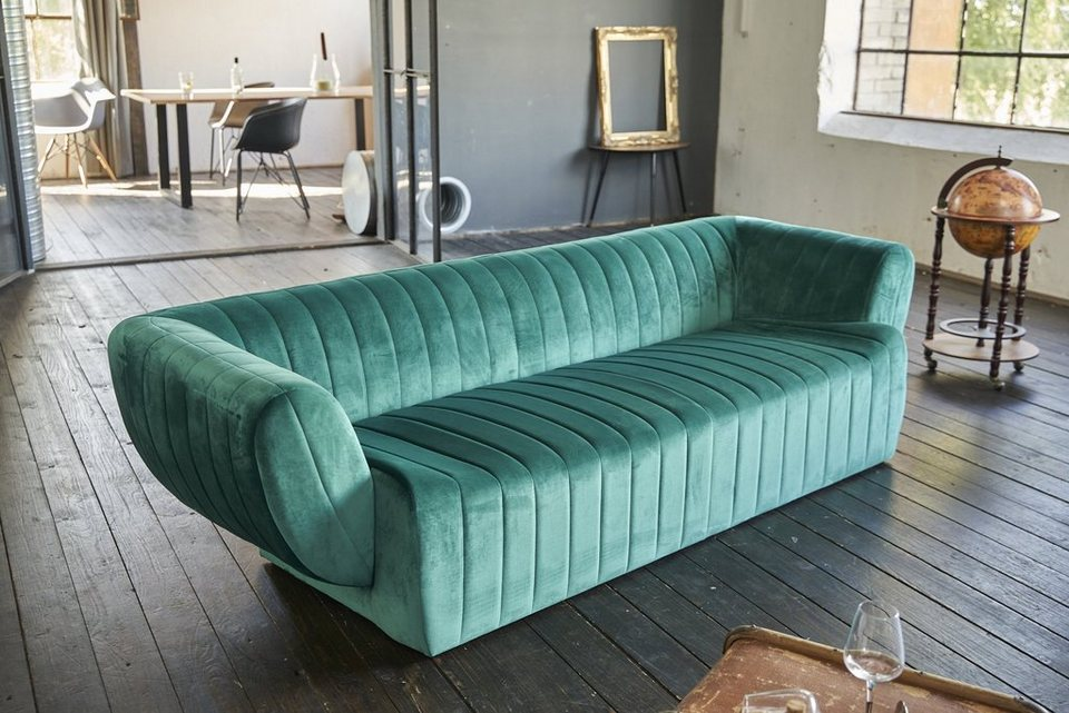 KAWOLA 3-Sitzer »NORLO«, Sofa Stoff Velvet versch. Farben ...
