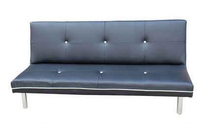Happy Home Schlafsofa »Happy Home Schlafsofa Schwarz Sofa Couch Gästebett Multifunktionssofa«