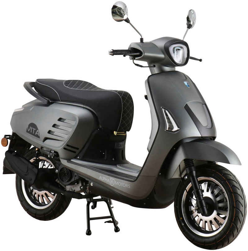Alpha Motors Mofaroller »Vita«, 50 ccm, 25 km/h, Euro 5, mattgrau