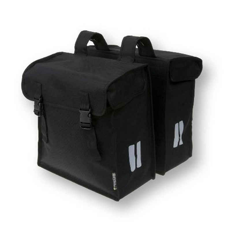 Basil Gepäckträgertasche »Doppelpacktasche Basil Mara XXL schwarz, 18x35x36c«