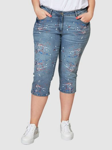 Angel of Style by Happy Size Slim Fit Capri-Jeans