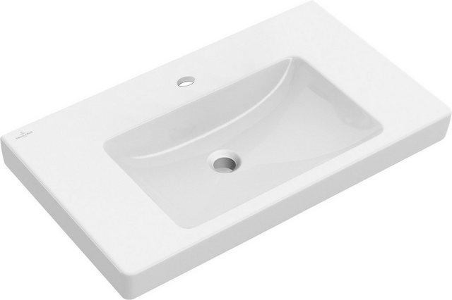 Waschtische - Villeroy Boch Waschbecken »Subway 2.0«, mit CeramicPlus Beschichtung und Überlauf  - Onlineshop OTTO