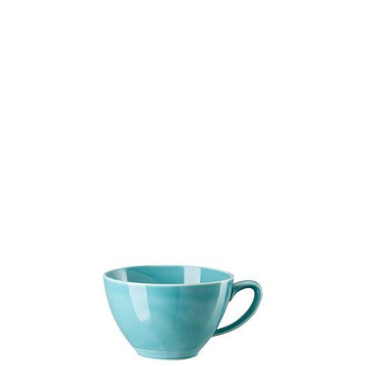 Rosenthal Latte-Macchiato-Tasse »Mesh Colours Aqua Café au lait-Obertasse«, Porzellan