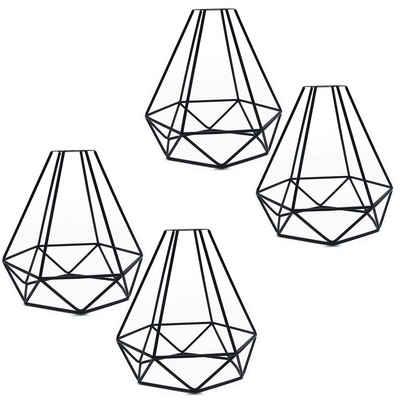 TOPMELON Lampenschirm »Retro Schmiedeeisen Double Line Diamant Lampenschirm«, 4-teiliges Set