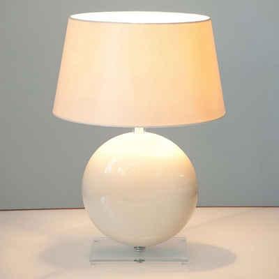 Holländer Tischleuchte »Billiardo Keramik-Plexiglas Creme-Klar«
