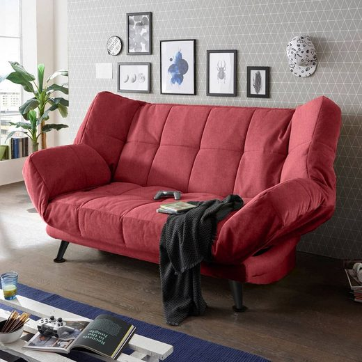 Lomadox Schlafsofa »INSUL-09«, mit Bettkasten in 208x134 cm, in der Farbe berry