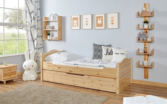 Ticaa Einzelbett »Leni«, mit Zusatzbett
