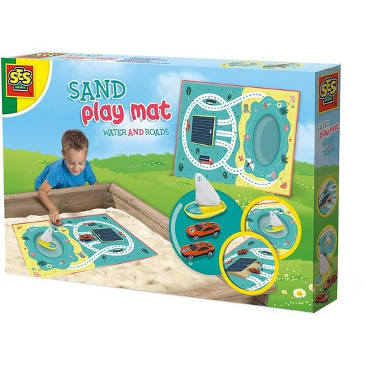 SES Creative Sandkasten »Sandspielmatte - Wasser und Straßen«
