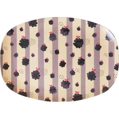 "rice Servierplatte »Melamin Servier-Teller ""Blackberry Beauty"",«"