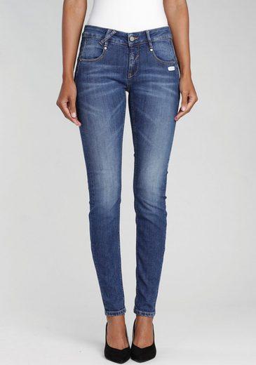 GANG Skinny-fit-Jeans »NELE-GA« mit gekreuzten Gürtelschlaufen vorne