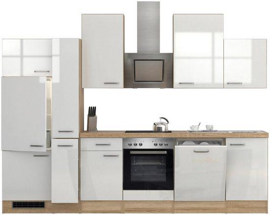 Flex-Well Küchenzeile »Florenz«, mit E-Geräten, Breite 310 cm