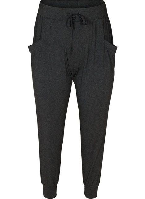 Hosen - Active by ZIZZI Trainingshose Große Größen Damen Lockere Hose mit Taschen und Kordelzug ›  - Onlineshop OTTO