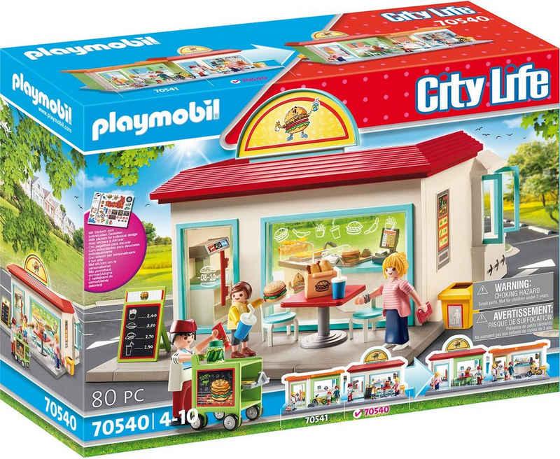 Playmobil® Konstruktions-Spielset »Mein Burgerladen (70540), City Life«, (80 St)
