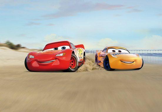 Komar Fototapete »Cars Beach Race«, glatt, Comic, bedruckt, (Packung), ausgezeichnet lichtbeständig