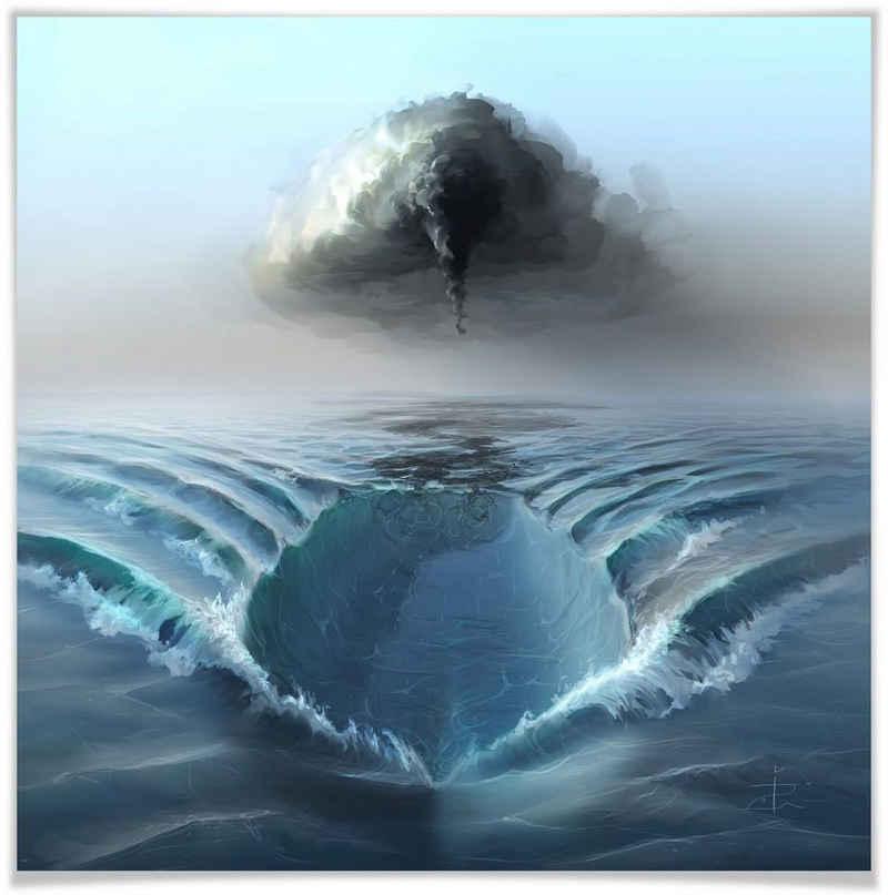 Wall-Art Poster »Ozean Sehnsucht Schiff auf Meer«, Meer (1 Stück), Poster, Wandbild, Bild, Wandposter