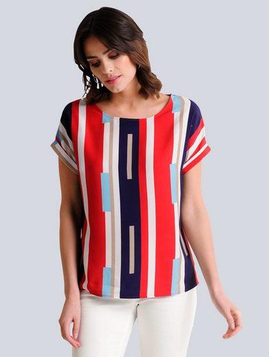 Alba Moda Blusenshirt im exklusiv designten Print