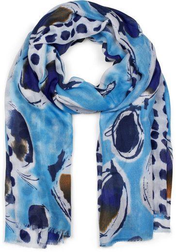 styleBREAKER Schal »Schal mit abstrakten Punkten und Tupfen« Schal mit abstrakten Punkten und Tupfen
