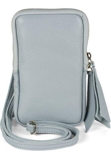 styleBREAKER Mini Bag, Echtleder Handy Umhängetasche