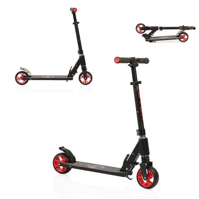 Byox Cityroller »Kinderroller Heartbeat«, Höhe einstellbar, zusammenklappbar, PU-Räder