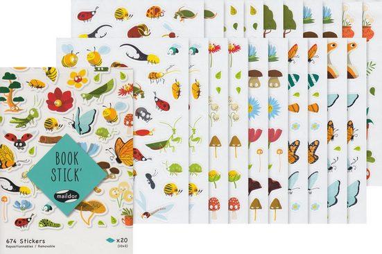 maildor Sticker »Buch Happy Nature«, 20 Bogen