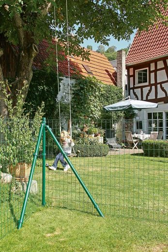 GAH Alberts Eckpfosten »Fix-Clip Pro®«, (Set), für Maschendrahthöhe 122 cm, zum Einbetonieren