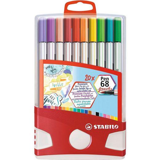 STABILO Pen 68 brush 20er ColorParade