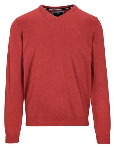 BASEFIELD V-Ausschnitt-Pullover aus Baumwoll-Kaschmir-Qualität