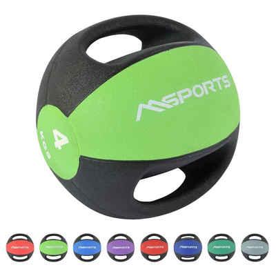 MSports® Medizinball »MSPORTS Medizinball Premium mit Griffe 1 – 10 kg – Professionelle Studio-Qualität Gymnastikbälle«