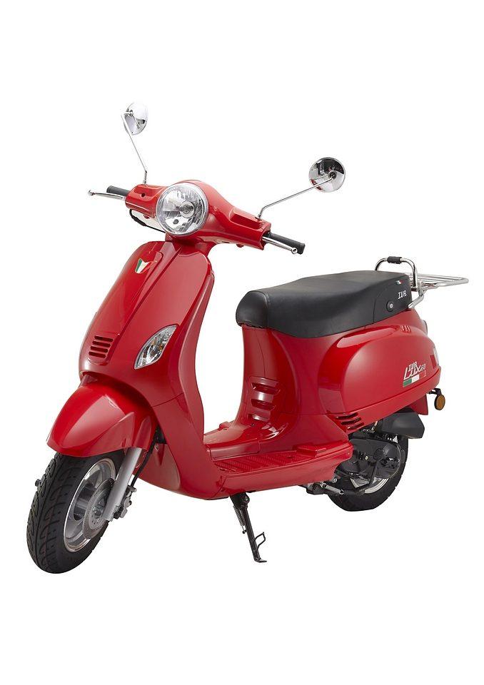 Mofaroller »LUX 50«, 50 ccm 25 km/h, für 1 Person, rot-schwarz