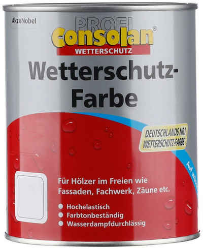 Consolan Wetterschutzfarbe »Profi Holzschutz«, 0,75 Liter, grün