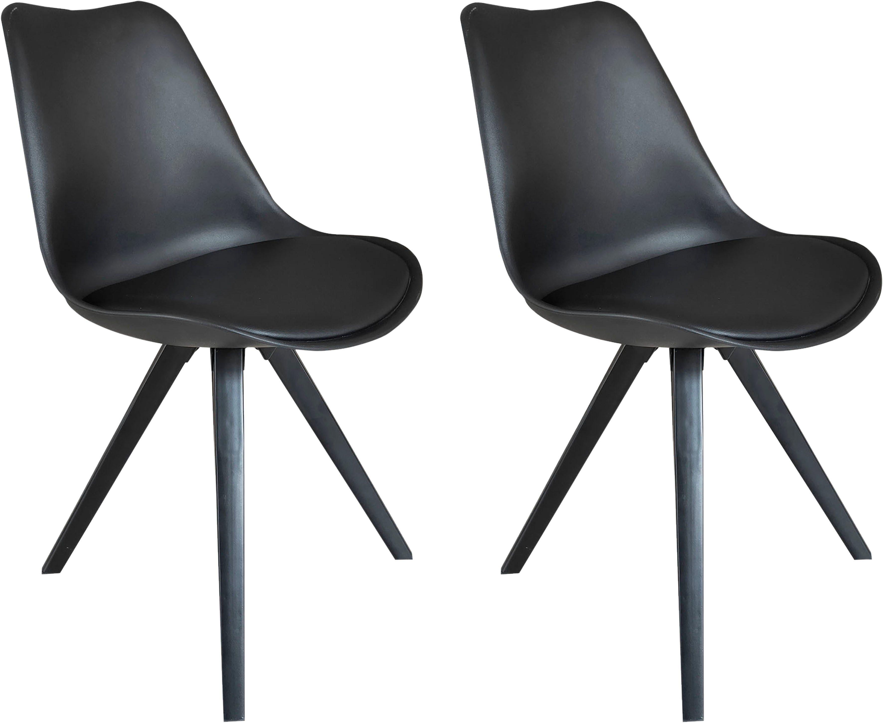 Homexperts 4 Fußstuhl »Kaja 02« (2 Stück), Sitzschale mit Sitzfläche in Lederoptik online kaufen | OTTO