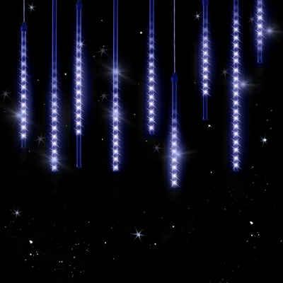 monzana Lichterkette, 1-flammig, LED Blau 8,6m Outdoor Indoor IP44 Lichterregen Eisregen Meteorschauer Weihnachtsdeko