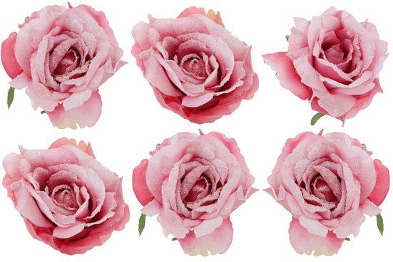 Weihnachtsbaumklammer »Rosen« (6-tlg), mit Clip zur Befestigung