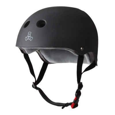 Triple 8 Skatehelm »The Certified Sweatsaver - black rubber«, Größenanpassung durch Polster