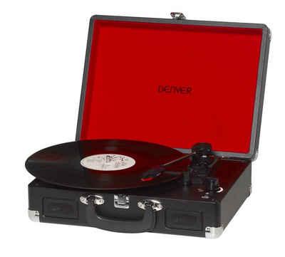 Denver »VPL-120 BLACK« Plattenspieler (USB-Ausgang zur MP3-Digitalisierung Ihrer Plattensammlung, eingebaute Lautsprecher)